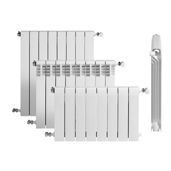 BAXI ROCA Dubal 45/14 sekciju alumīnija radiators, balts 194A16401